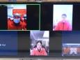 我院中共预备党员、第三团支部书记杨旃同志被选为团干部、团员代表之一与李楚书记进行视频交流